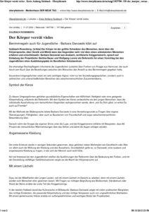 Der Koerper verraet vieles . Kreis Amberg-Sulzbach - Oberpfalznetz